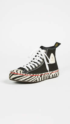 R 13 Canvas High Top Sneakers