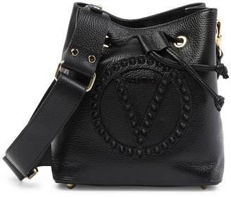 Mario Valentino Valentino By Leon Rock Studded Leather Bucket Bag