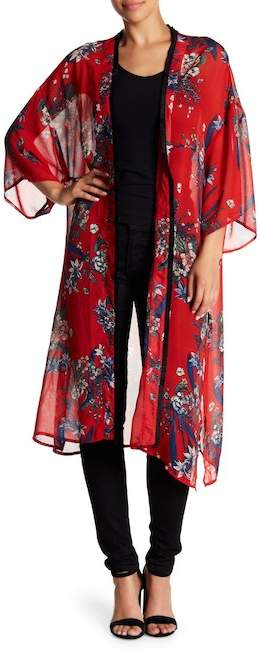 Love + Harmony Patterned 3/4 Sleeve Kimono
