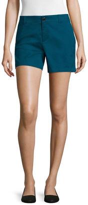 LIZ CLAIBORNE Liz Claiborne Twill Chino Shorts $36 thestylecure.com