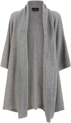 William Sharp Embellished Oversized Shawl Cardigan
