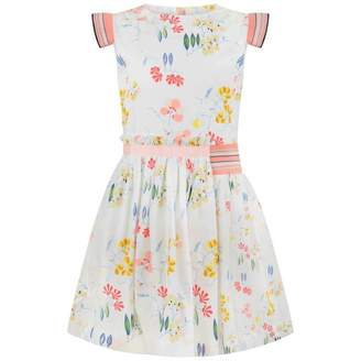 No Added Sugar No Added SugarWhite Floral Print Dress