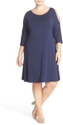Tart 'Naya' Cold Shoulder A-Line Dress
