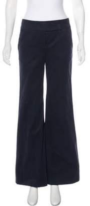 Behnaz Sarafpour Mid-Rise Wide-Leg Pants Navy Mid-Rise Wide-Leg Pants