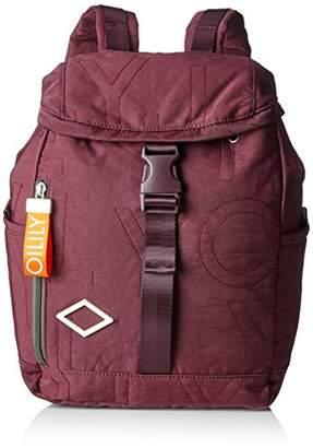 Oilily Spell Backpack Mvf, Women's Backpack, Rot (Burgundy), 14.5x34.5x26 cm (B x H T)