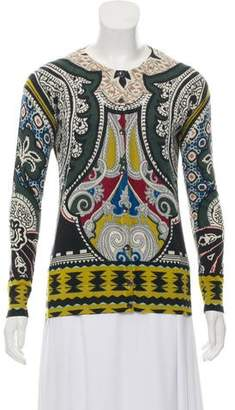 Etro Silk & Cashmere-Blend Knit Cardigan