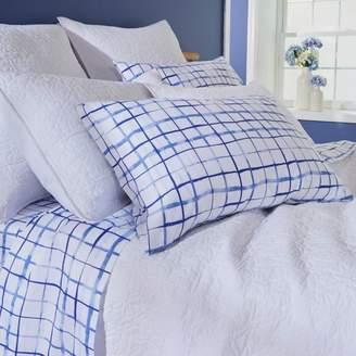 bluebellgray Watercolor Plaid King Pillowcase, Pair