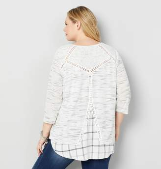 Avenue Spacedye Split Back Hi Lo Tunic