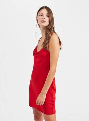 Miss Selfridge Red cowl neck mini slip dress