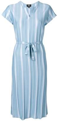 A.P.C. striped midi dress