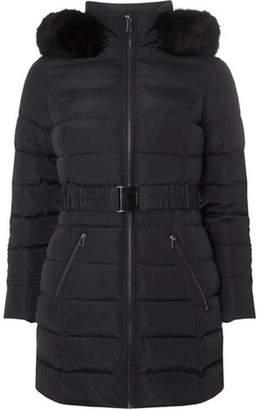 Dorothy Perkins Womens Petite Navy Luxe Coat