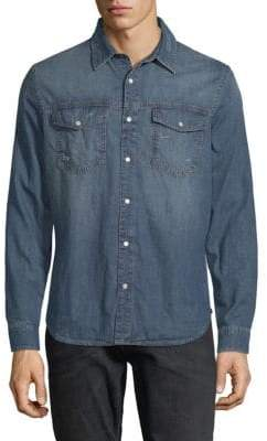 7 For All Mankind Denim Trucker Button-Down Shirt