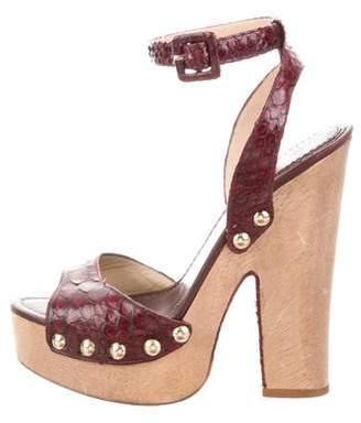 Alexandre Birman Snakeskin Platform Sandals