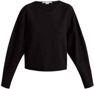 Stella McCartney V-neck step-hem fine-knit sweater