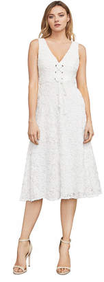 BCBGMAXAZRIA Evanna Corset-Front Lace Dress