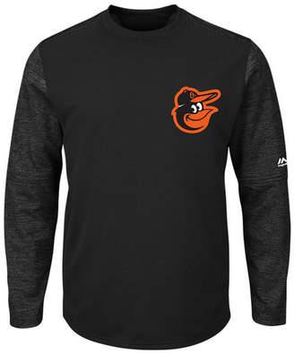 Majestic Men's Baltimore Orioles Ac On-Field Tech Fleece Pullover