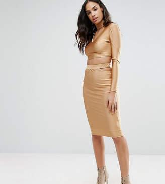 Naanaa Midi Skirt With Cut Out Co-Ord