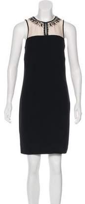 LK Bennett Silk-Paneled Beaded Dress w/ Tags