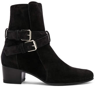 Amiri Buckle Suede Boots