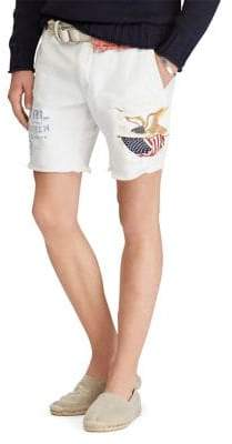 Polo Ralph Lauren Straight Fit Frayed Cotton Shorts