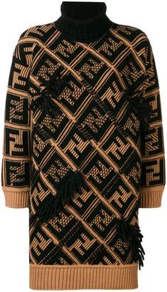 Fendi FF logo knitted dress