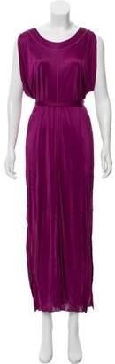 Jean Paul Gaultier Soleil Cold-Shoulder Maxi Dress