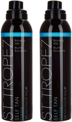 St. Tropez Set of 2 Deluxe Self Tanning Mists with Mitt