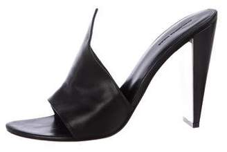 Alexander Wang Leather Slide Sandals