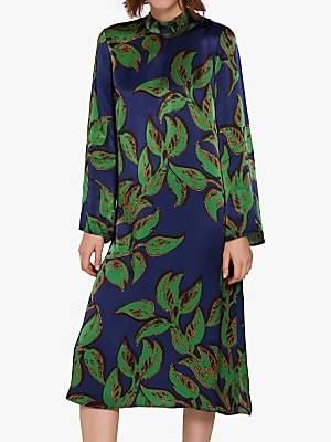 b6fcd041c45b31 Ghost Maya Satin Dress, Matisse Green Leaf