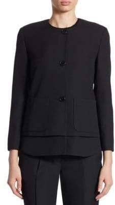 Akris Removable Hem Wool Jacket