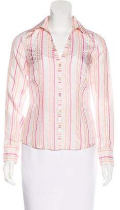 Ben Sherman Silk Button-Up Top w/ Tags