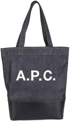A.P.C. Logo Print Shopper Bag