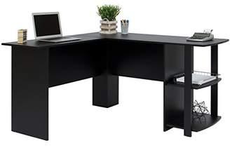 Best Choice Products L-Shaped Corner Computer Office Desk Furniture- Black