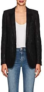 Saint Laurent Women's Sequin-Embellished Tweed Blazer - Black