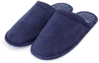 Isotoner Mens Terry Mule Slippers