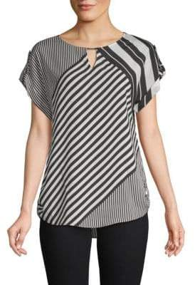 Calvin Klein Cut-Out Striped Top