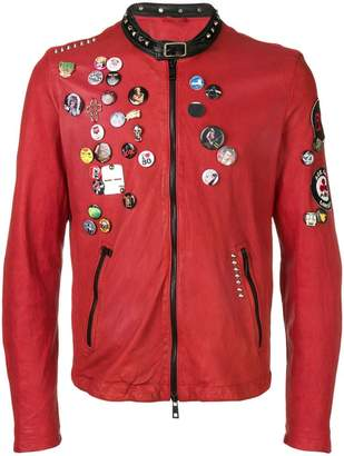 Giorgio Brato pin leather jacket