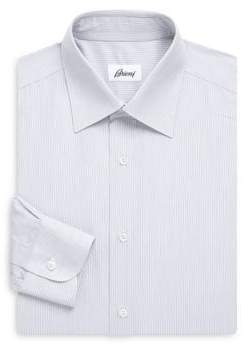 Brioni Regular-Fit Faded Stripe Dress Shirt