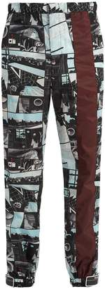 Prada Comic-print patch-detail track pants