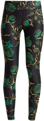 The Upside Jade floral-print leggings