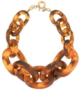 Vanda Jacintho tortoiseshell oversized cable chain necklace