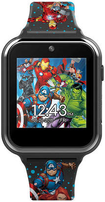 Marvel Avengers Boys Black Smart Watch-Avg4597jc