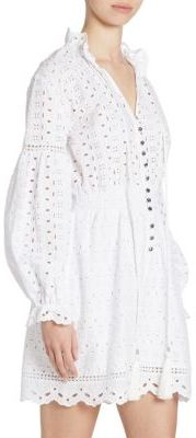 The Kooples Lantern-Sleeve Eyelet Cotton Romper $250 thestylecure.com