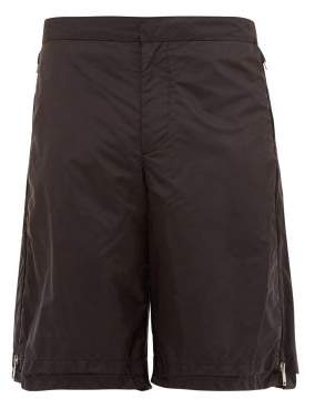 Prada Side Zip Technical Shorts - Mens - Black
