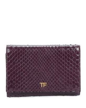 Tom Ford Python Flap Line Wallet