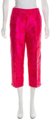 Chris Benz High-Rise Straight-Leg Pants Fuchsia High-Rise Straight-Leg Pants