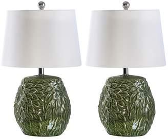 Abbyson Living Mallorca Green Ceramic Table Lamp - Set of 2