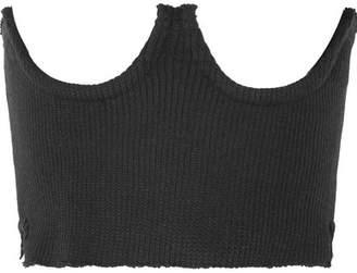 Orseund Iris Ribbed-knit Corset - Black