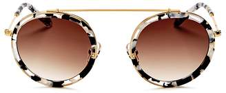 Krewe Conti Round Sunglasses, 46mm $255 thestylecure.com