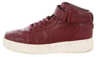 Celine Leather High-Top Sneakers